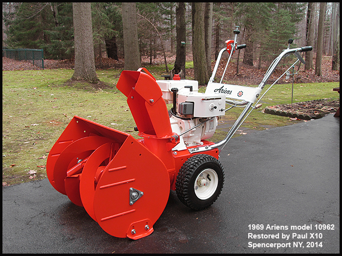 The ariens 1960's and 1970's sno-thro info site.