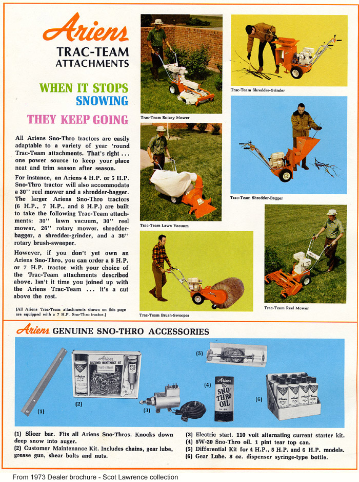 The Ariens 1960's and 1970's Sno-Thro info site